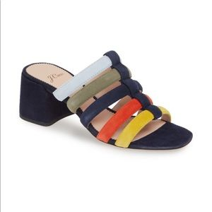 J.Crew rainbow slides. So comfy and cute too.